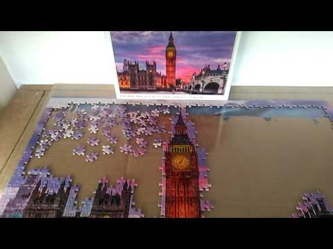 Big Ben 1000 piece puzzle-days 1 and 2 (12hrs)
