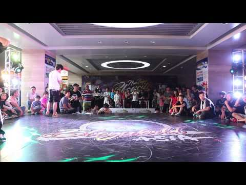 BBoy 1 on 1 Onoprienko vs Laykovskiy│China Prelim of New Taipei Bboy City 2014