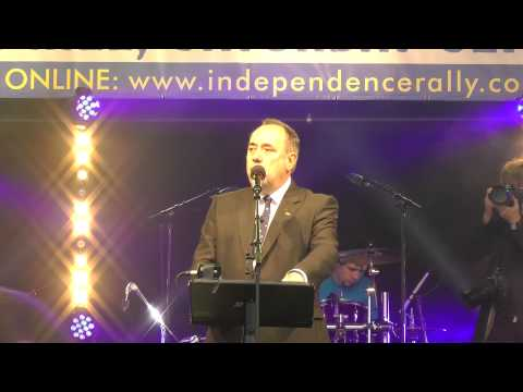 EXCLUSIVE: First Minister Alex Salmond at the Scottish Independence Rally 2013