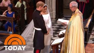 Royal Wedding: Prince Harry, Meghan Markle Exchange Vows   TODAY