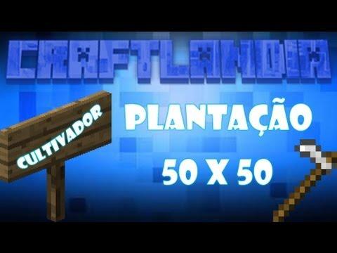 Minecraft - Craftlandia server aurora - Plantação 50 por 50 de cenoura está pronta