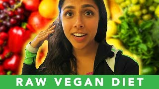 Trying The RAW VEGAN DIET For A Week 🥕 (No animal products or cooked foods)