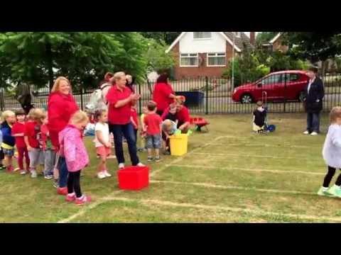 Filling the water bucket Race