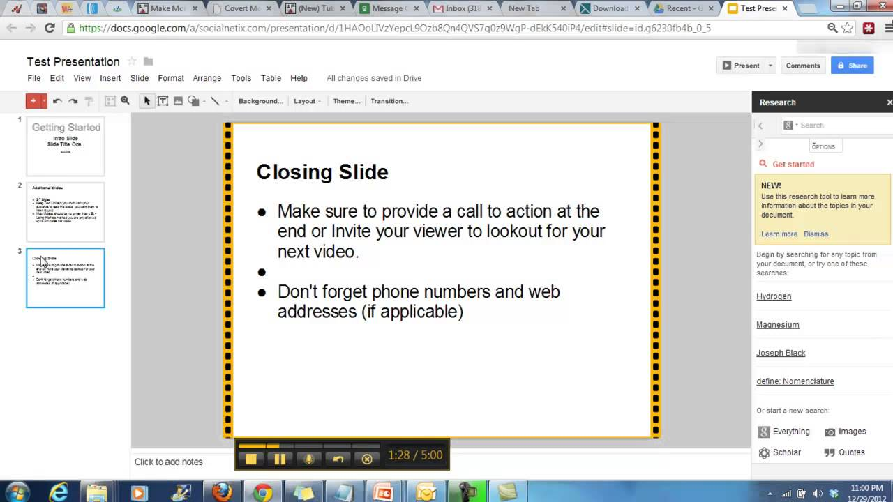 How to create presentation videos using free online for Create a program online