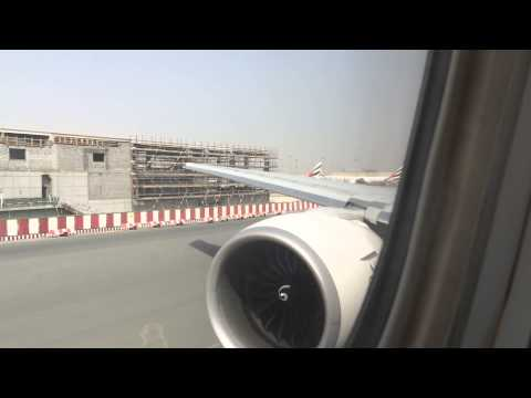 Emirates B777-300ER Takeoff from Dubai International Airport