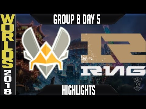 VIT vs RNG Highlights | Worlds 2018 Group B Day 5 | Vitality(EULCS) vs Royal Never Give Up(LPL)