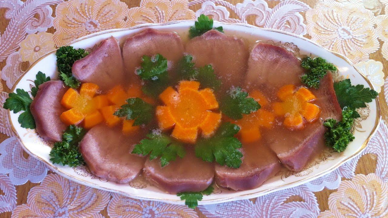Заливное из языка свиного пошаговый рецепт с майонезом