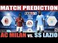 FIFA 14: AC Milan vs. SS Lazio Serie A Match Prediction Fecha #01