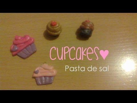 CupCakes con Pasta de sal   3 Maneras de pintar tus figuras   Figuras de masa flexible