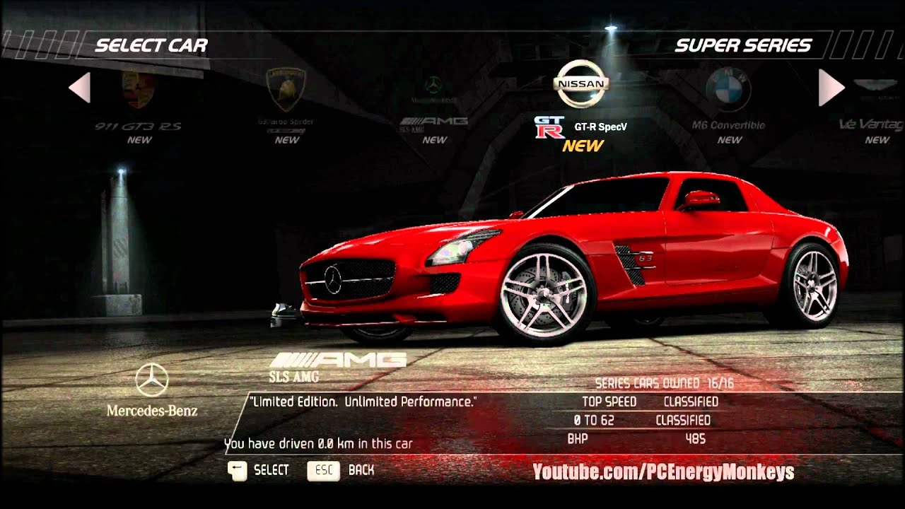 Need For Speed Hot Pursuit Cars List Pc 1080p Youtube