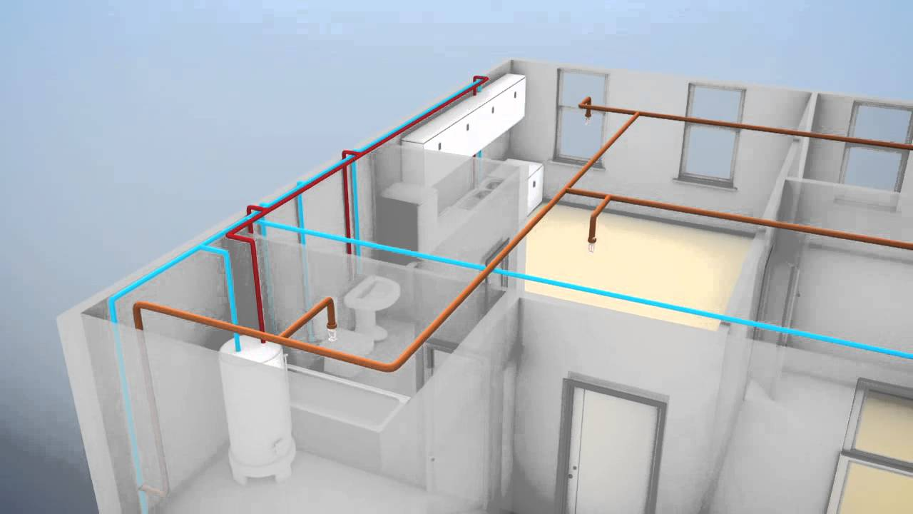 animation of stand alone fire sprinkler system versus multipurpose