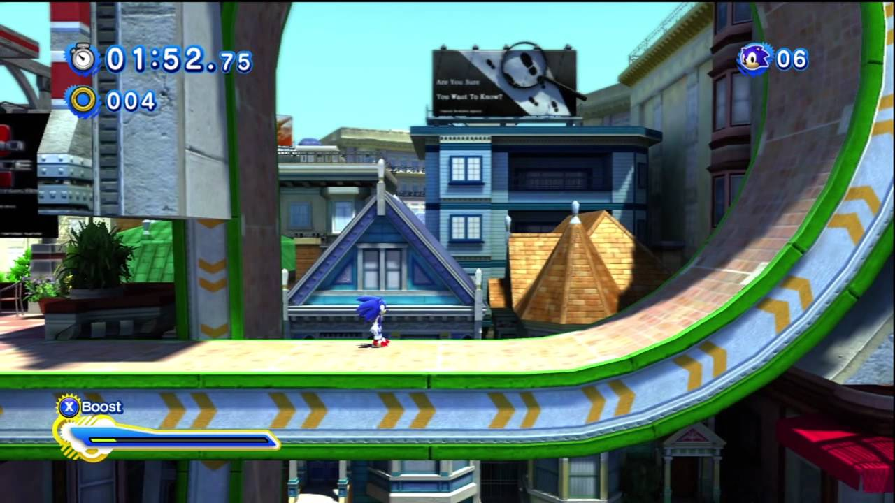 sonic generations city escape modern act 2 youtube