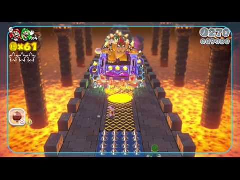 Super Mario 3D World ALL BOSS BATTLES  (Boss Battles -  Wii U)