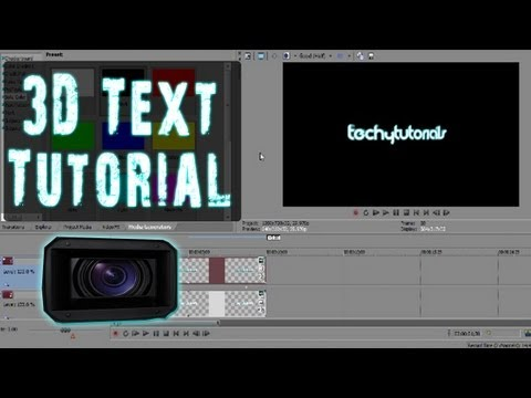 Sony Vegas | CREATE INTRO: 3D Text (Rotating and Depth)
