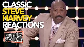 5 STEVE HARVEY REACTIONS TO Classic Family Feud Answers!