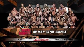 WWE' 12 40 Man Royal Rumble Match Part 1 [XBOX 360 PS3 HD