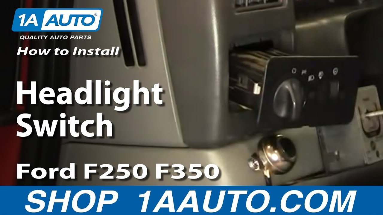 install replace headlight switch ford