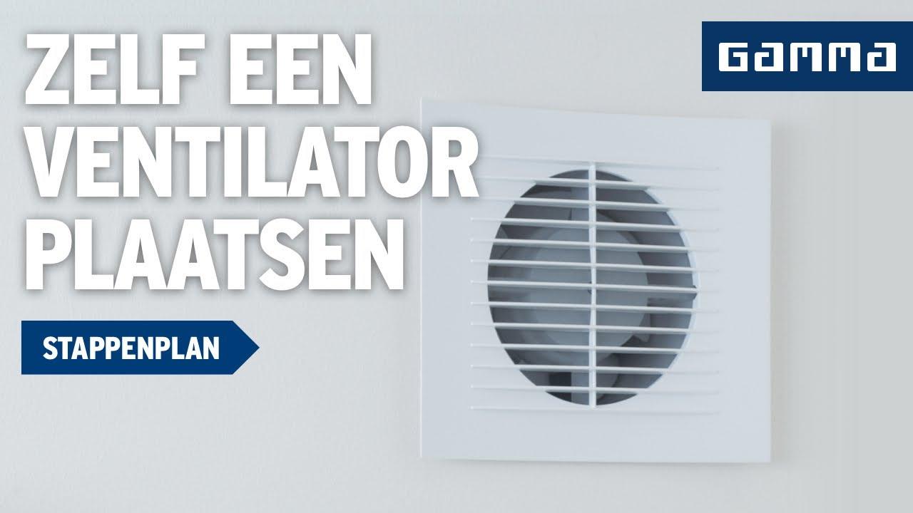 Ventilator plaatsen in badkamer  Klustips  GAMMA Belgi?  YouTube
