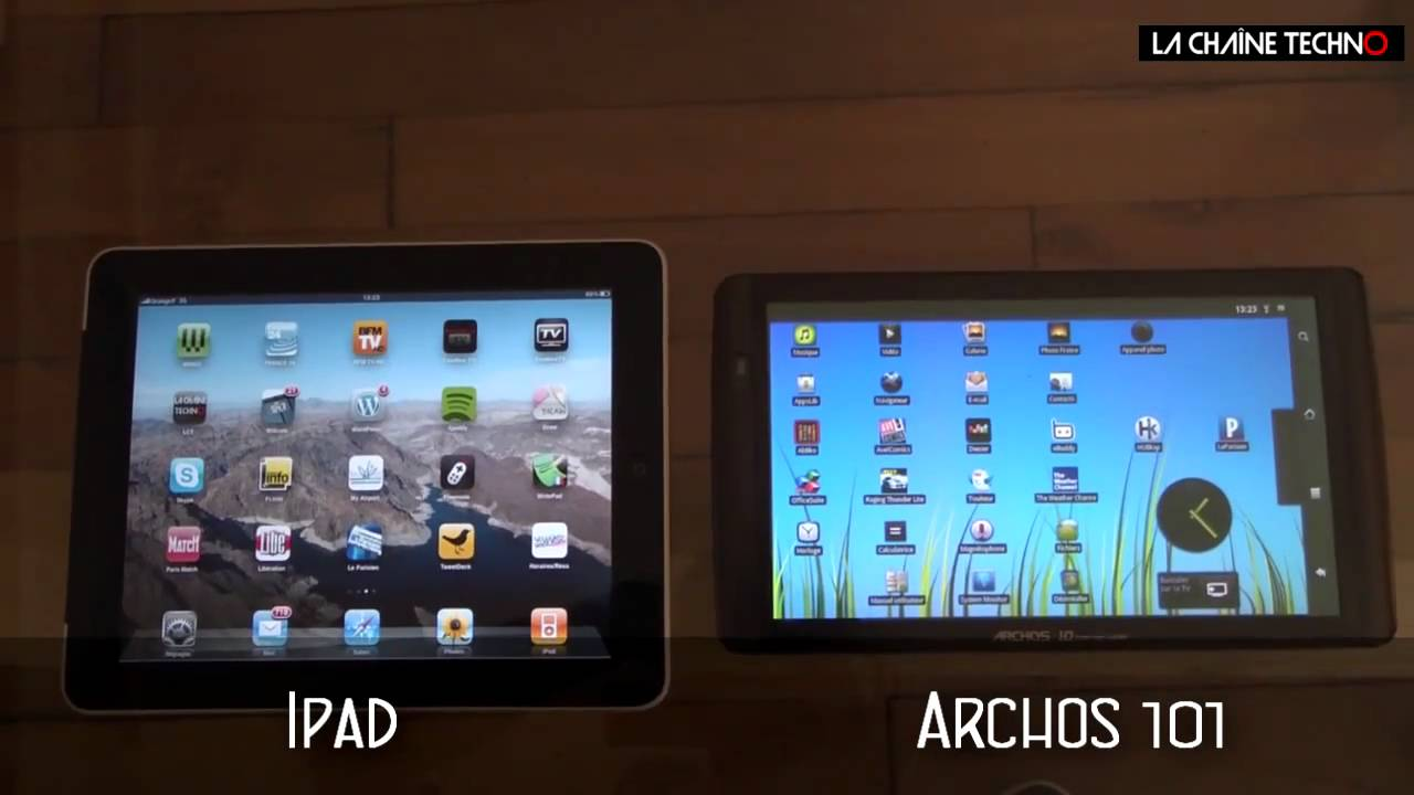 tablettes archos 70 et 101 l 39 assaut de l 39 ipad youtube. Black Bedroom Furniture Sets. Home Design Ideas