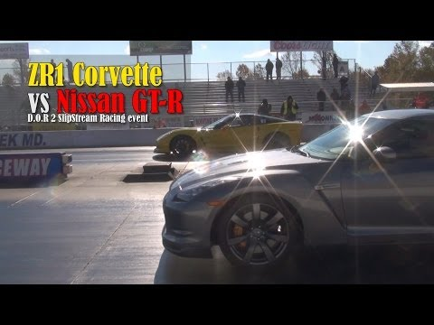 ZR1 Corvette vs Nissan GT-R drag race