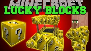 Minecraft: LUCKY BLOCKS (LUCKY VILLAGERS, WISHING WELLS, LUCKY POTIONS, & MORE!) Mod Showcase