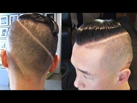 Old School Ronaldo Haircut | High Fade With Unique Design Cut Into Back
