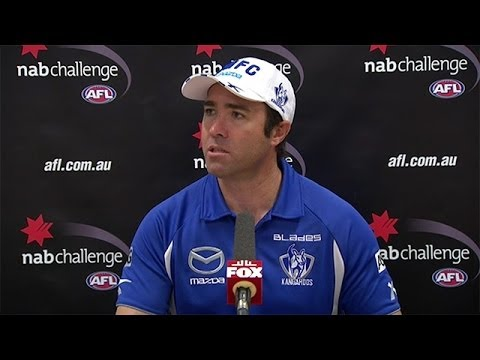 NAB Challenge 2014: Brad Scott post-match media conference