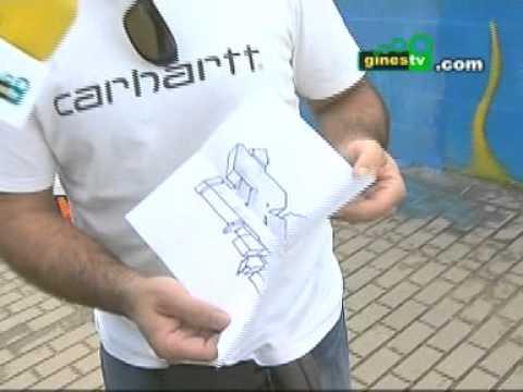 "Encuentro de graffiteros en Gines homenaje a ""BECE"""