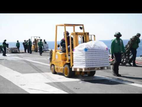 140314-N- XI307-003: USS George H.W. Bush (CVN 77) Receives Replenishment-at-Sea