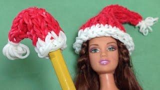 Rainbow Loom Charms / Loom Bands Santa Hat Pencil Topper