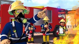 Požárník Sam - Požár pri záchraně budovy