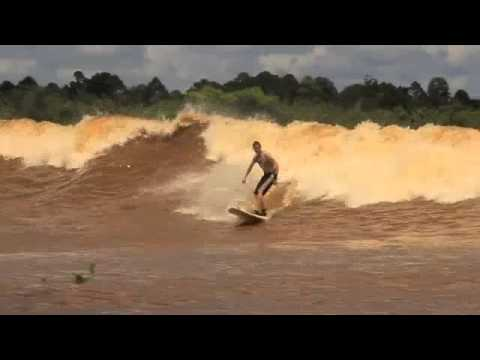 Bono Surfing River Kampar February 2013. World Record Distance