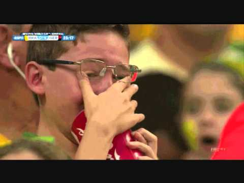 Brazil vs Germany 1 - 7 Ode to Crying Brazilian Boy World Cup