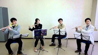 """Christmas Morning"" For Flute Quartet, George Frederick"
