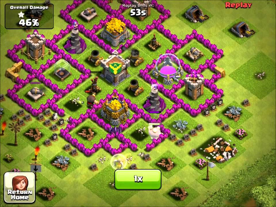 Clash of clans layout th7 base car tuning
