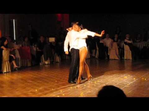 Sasha and Regina dancing Rumba to Bruno Mars When I Was Your Man .