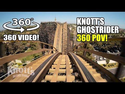 Ghostrider Roller Coaster 360 VR POV Knotts Berry Farm California
