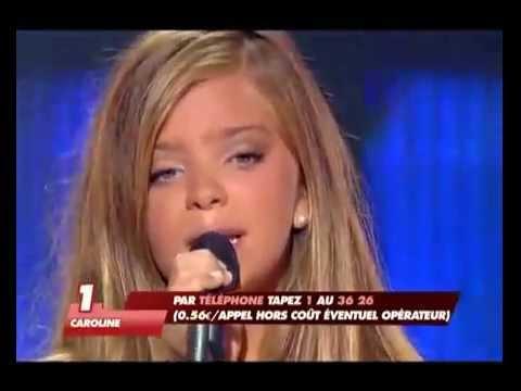 Incroyable talent 2008 Caroline Costa 12 ANS ---- TITANIC ----Jeune chanteuse