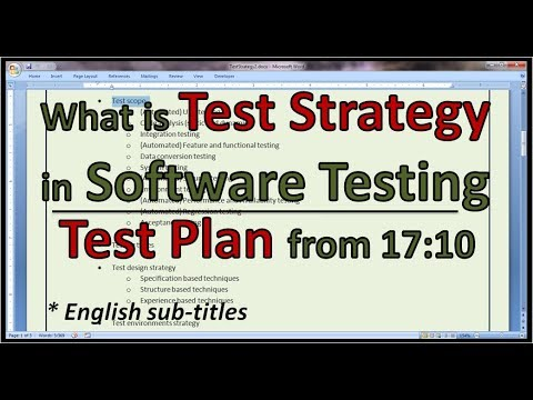 Agile Testing - Example Agile Test Strategy and Agile Test Plan