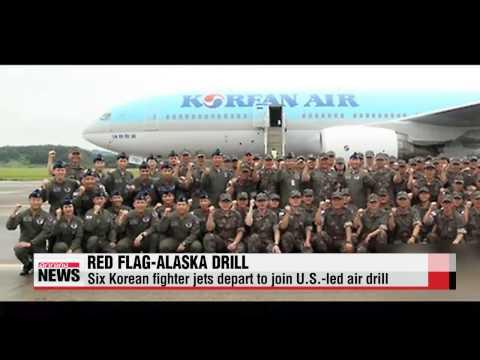 Six Korean fighter jets depart to join U.S.-led air drill   공군 F-16D 6대 첫 공중급유 받