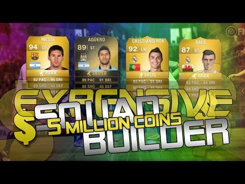 Fifa 14 Most Expensive 5 Million Coin Squad Builder Ultimate Team Ronaldo Messi Bale