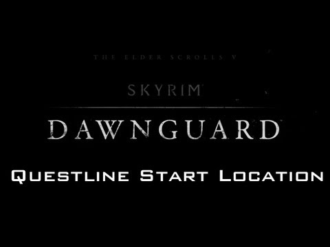 Skyrim Dawnguard DLC - Finding Dayspring Canyon Dawnguard Questline Start Location (PC)