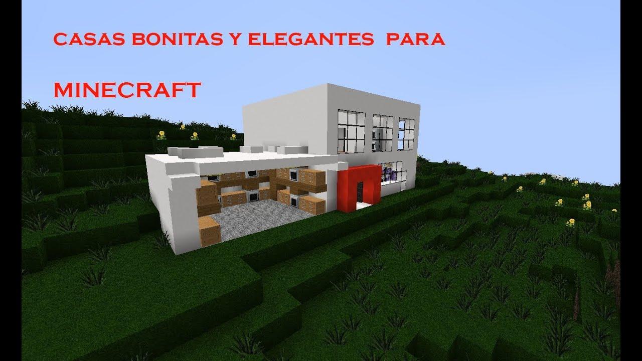 Como hacer una casa moderna bonita y elegante en m youtube for Como aser una casa moderna y grande en minecraft