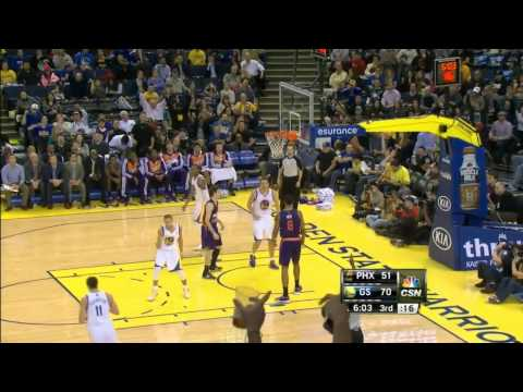 Stephen Curry almost-360 pass to Klay Thompson | Warriors vs Suns, 27 December 2013