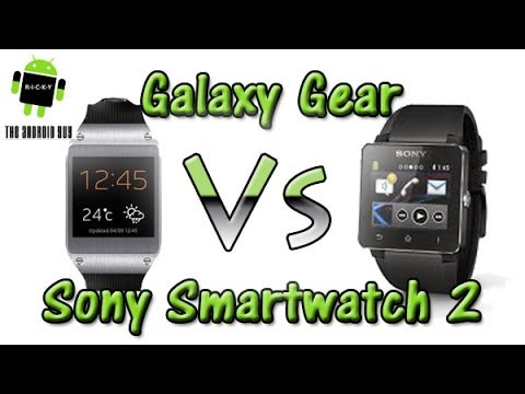 Galaxy Gear vs Sony Smartwatch 2 (Comparison)