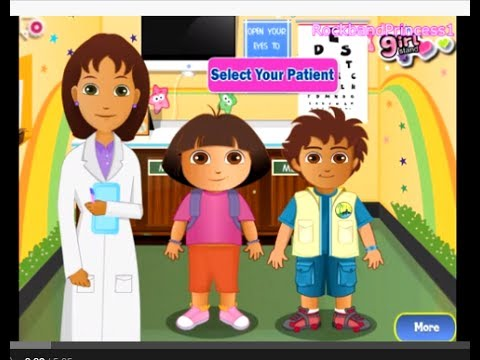 Dora Games To Play Online Free - Dora and Diego At The Eye Clinc Game