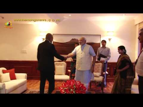 Singapore Foreign Affairs Minister Shanmugam meets PM Narendra Modi