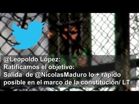 Leopoldo López reitera que el objetivo es Maduro -- Exclusivo Online