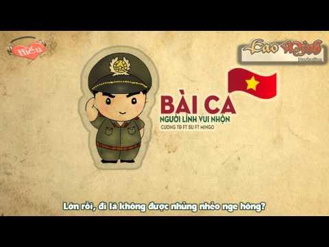 Bài Ca Người Lính Vui Nhộn - Cương TĐ ft B.U, MinGo [Video Lyric Official HD]