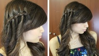 Boho Waterfall Twist Hairstyle For Medium Long Hair